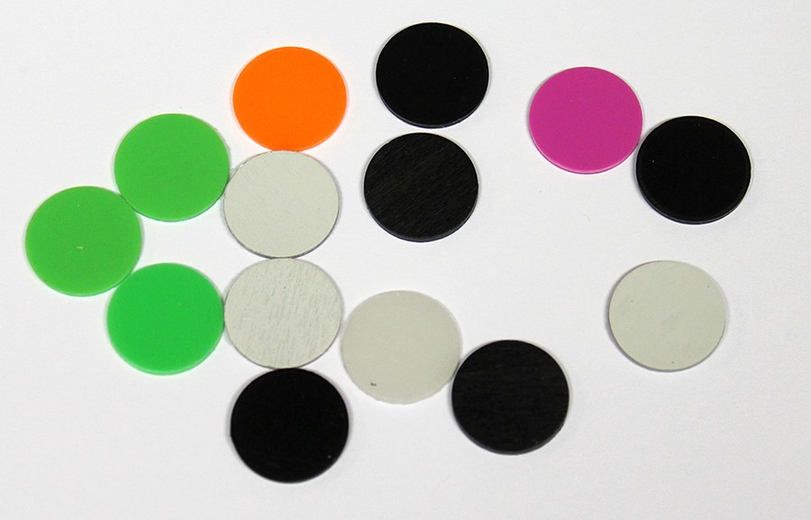 Snoli Plastic plugs for inserts in mixed colours, 100pcs