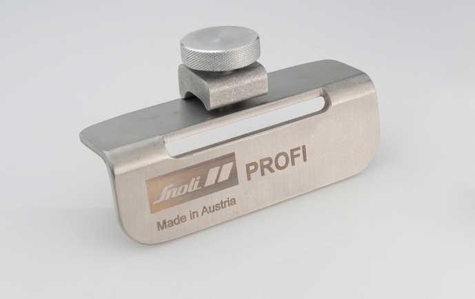 "Snoli INOX profi file holder with ""clamp"" and hole"