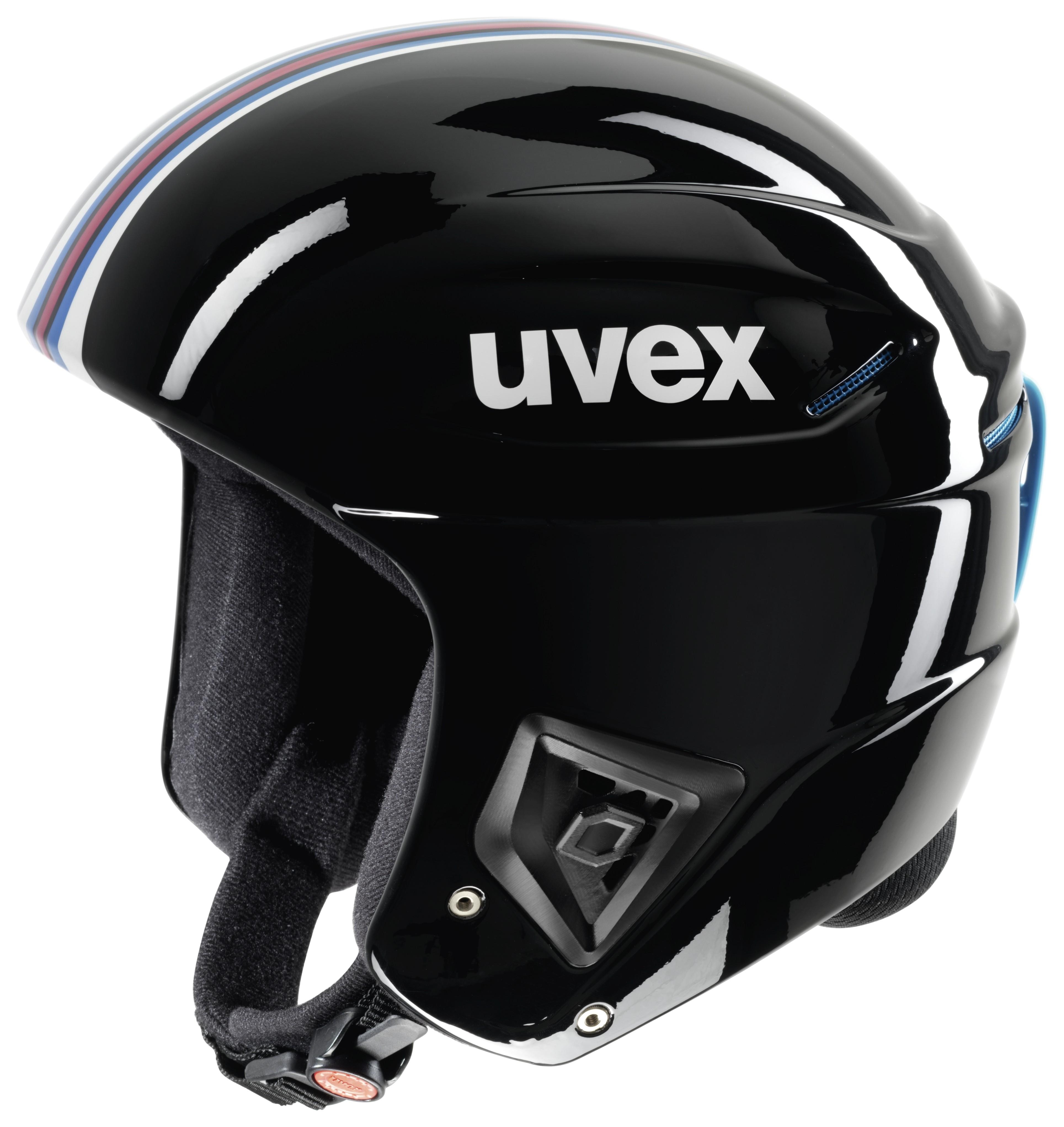 Uvex race + FIS ski helmet, 2017, black/pink
