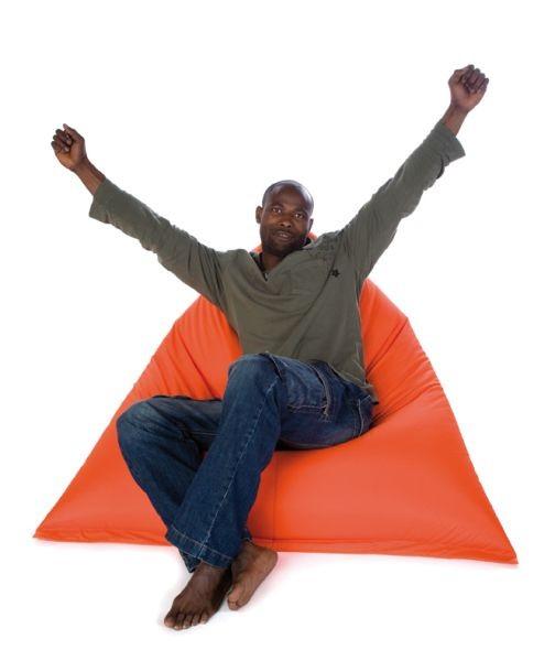 vreča za sedenje sit on it tryangle xl oranžna