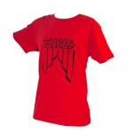 Shred majica crooked logo red