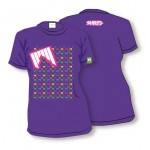 shred zenska majica t shirt liget purple