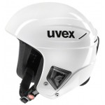 Uvex race + FIS ski helmet, 2018, all white