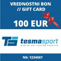 Tesma sport gift voucher for 100 Eur