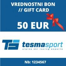 Tesma sport Gift voucher for 50 Eur