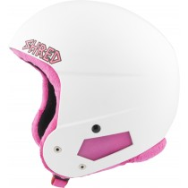 Shred Brain Bucket Mini WHITE PINK ski helmet