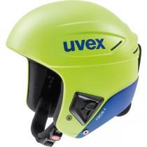 Uvex race + FIS ski helmet, lime/cobalt mat, 2018