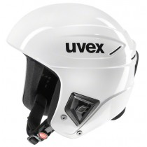 Uvex race + FIS ski helmet, 2017, all white