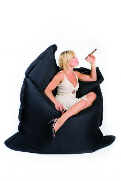 bean bag sit on it deluxe two tone black white. Black Bedroom Furniture Sets. Home Design Ideas