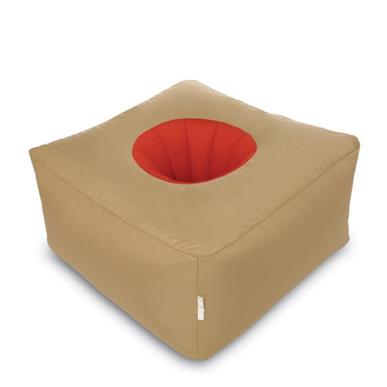 bean bag sit on it peanut caramel red. Black Bedroom Furniture Sets. Home Design Ideas