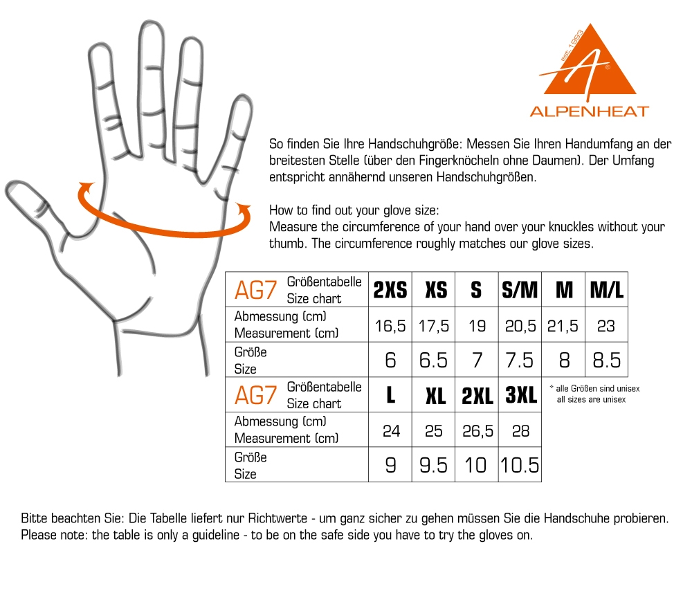 ag7 size chart